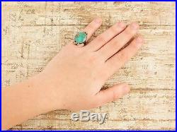 Antique Vintage Native Navajo Pawn Sterling Silver Royston Turquoise Ring S 3.75