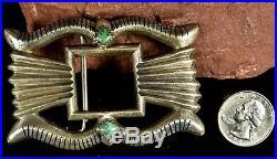 BIG Old Pawn Vintage Handmade Navajo Sand Cast Sterling Silver Belt Buckle