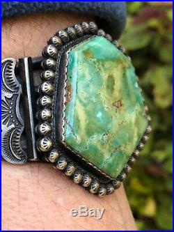 Best! Old Pawn Navajo Size 6-1/2 Sterling Silver & Turquoise Cuff Bracelet