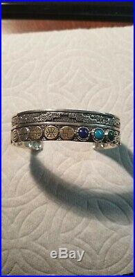Carolyn Pollack Roderick Tenorio RMT Sterling Southwest 14K Turquoise Bracelet