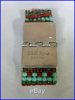 Chili Rose Turquoise and Sterling Silver Bracelet
