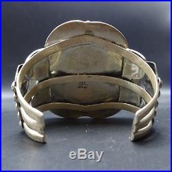 HUGE Signed Vintage Sterling Silver BISBEE TURQUOISE Bracelet, BOBBY LUJAN Taos