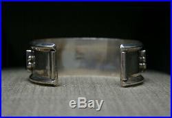 Jeanette Dale Native American Navajo Black Onyx Sterling Silver Cuff Bracelet