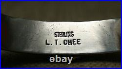 Leonard T Chee Native American Navajo Turquoise Sterling Silver Cuff Bracelet