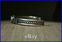 Lovely Native American Navajo Turquoise Sterling Silver Cuff Bracelet