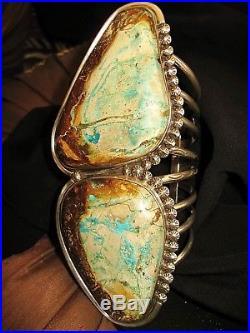 NAVAJO SPECTACULAR BRACELET MJ GARCIA -Turquoise++++, Sterling Silver, 222 grams