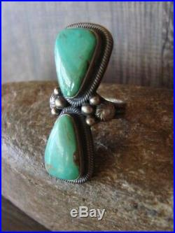 Native American Jewelry Sterling Silver Turquoise Ring! Size 8 Begay
