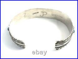 Native American Sterling Silver Zuni Handmade Turquoise Cuff Bracelet