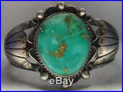 Natural Nevada Stone Mountain Turquoise Sterling Silver cuff bracelet 53 gr