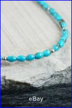 Navajo Turquoise & Sterling Silver Necklace Native American