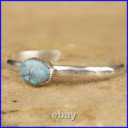 New Native American Navajo Sterling Silver Turquoise Cuff Bracelet
