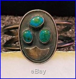 OLD PAWN Lot of 6 Sterling Silver & Turquoise Jewelry Navajo Southwest Style