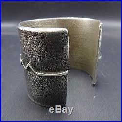 Rare EDISON CUMMINGS Vintage NAVAJO Sterling Silver & TURQUOISE Cuff BRACELET
