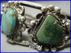 Rare Older Vintage Navajo Royston Turquoise Sterling Silver Bracelet