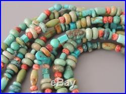 Rocki Gorman & Kee Cook Sterling Turquoise Multistrand Necklace Huge Pendant