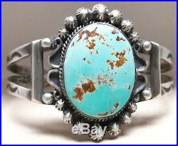 Royston Turquoise Sterling Silver cuff bracelet 33 grams