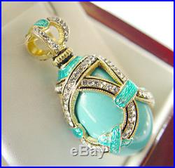 SALE! OUTSTANDING PENDANT HANDMADE OF STERLING SILVER 925 with GENUINE TURQUOISE