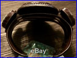 Santo Domingo SAM LOVATO GIANT Sterling & Carico Lake Turquoise Cuff BRACELET