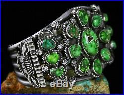 Tommy Jackson Rare Gem Grade Carico Lake Spiderweb Turquoise Cluster Bracelet