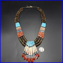 Turquoise Heishi Shell NECKLACE by KEWA Santo Domingo Artist TOREVIA CRESPIN