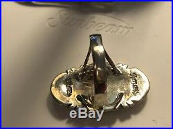 Vintage Estate Sterling Silver Katchina Ring Opal Turquoise Philippines
