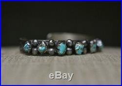 Vintage Native American Navajo Turquoise Sterling Silver Bracelet Large Size