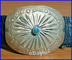 Vintage Sterling Silver Navajo 17 Concho belt