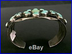 Vintage Turquoise & Sterling Bracelet Dead Pawn Ingot Hand-Forged