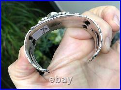 WOW Navajo Darryl Becenti Sterling Silver Turquoise & Shell Cuff Bracelet Sz5.75