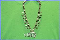 #old Pawn Squash Blossom #necklace #navajo, #sterling Silver Bead, Sandcast Naja